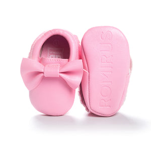 Big Bowties Pre-Walker Moccasin (Pink) - BabyLand.my