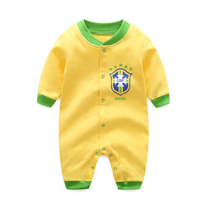 First Movements Yellow Soccer No.10 Romper - BabyLand.my