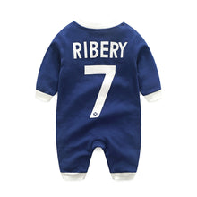 Load image into Gallery viewer, First Movements Navy Blue Soccer No.7 Romper - BabyLand.my