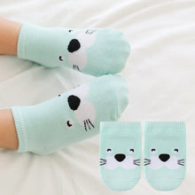 Load image into Gallery viewer, Kacakid Baby Animals Short Socks (Dolphin) - BabyLand.my