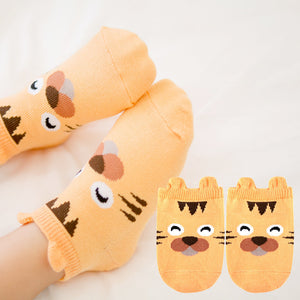 Kacakid Baby Animals Short Socks (Tiger) - BabyLand.my