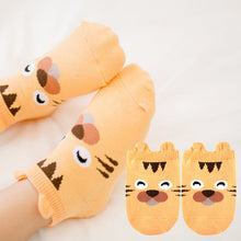 Load image into Gallery viewer, Kacakid Baby Animals Short Socks (Tiger) - BabyLand.my