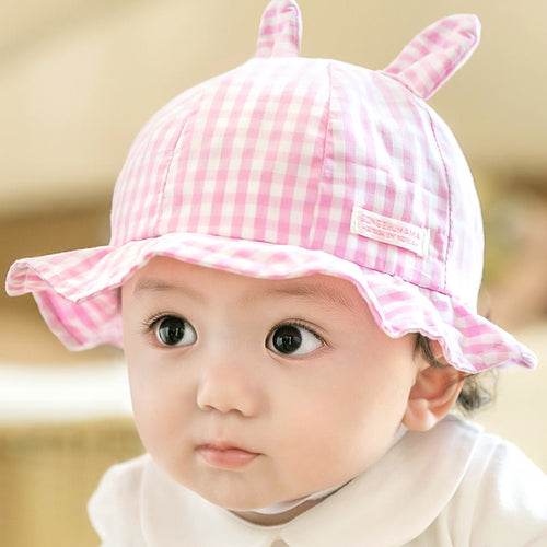 GZMM Bunny Plaid Baby Bucket Hat - BabyLand.my