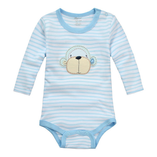 MomsCare Curious Blue Monkey Bodysuit - BabyLand.my