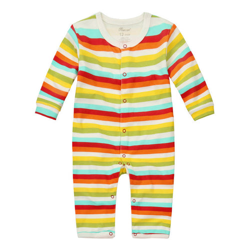 MomsCare Rainbow Stripes Romper - BabyLand.my
