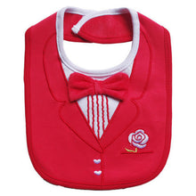 Load image into Gallery viewer, MomsCare Red Tuxedo Bib - BabyLand.my
