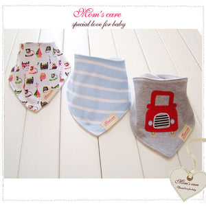 MomsCare Triangular Series Teething Bibs (Red Car) - BabyLand.my