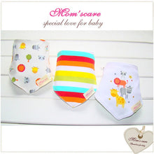 Load image into Gallery viewer, MomsCare Triangular Series Teething Bibs (Rainbow Zoo) - BabyLand.my