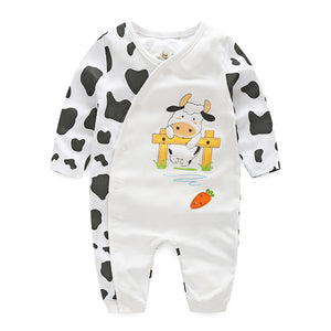 First Movements Baby Milk Cow Romper - BabyLand.my