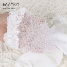 Load image into Gallery viewer, Kacakid Lace Mesh Embroidered Tube Socks (White) - BabyLand.my