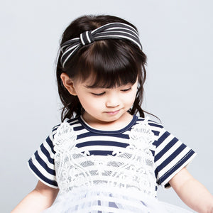 Black And White Stripes Headband - BabyLand.my