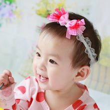 Load image into Gallery viewer, Sukerr Lovely Multiple Bow-Knot Baby Lace Headband - BabyLand.my