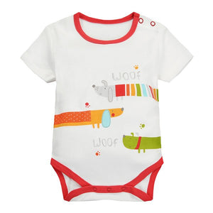 MomsCare Summer Short Bodysuit (Three Colorful Hot Dogs) - BabyLand.my
