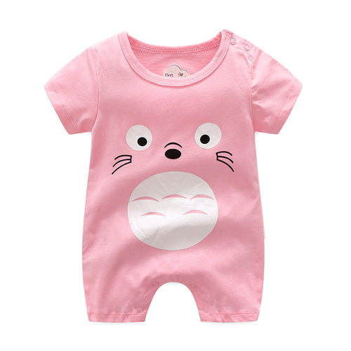 First Movements Adorable Pink Totoro Romper - BabyLand.my