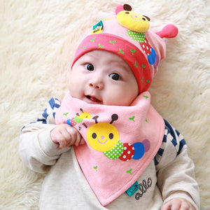 Tutuya Caterpillar Beanie + Bib 2-Piece Set - BabyLand.my