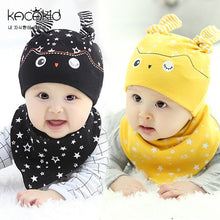 Load image into Gallery viewer, Kacakid Sleepy Owl Beanie + Bib Set - BabyLand.my