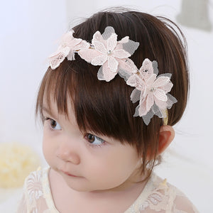Angel Neitiri Three Lace Flowers Headband - BabyLand.my