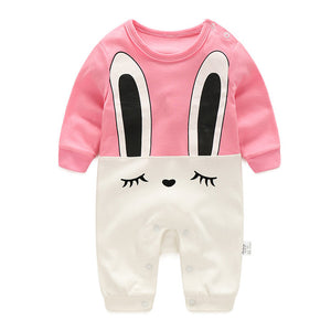 Shyly Long Ears Bunny Romper - BabyLand.my