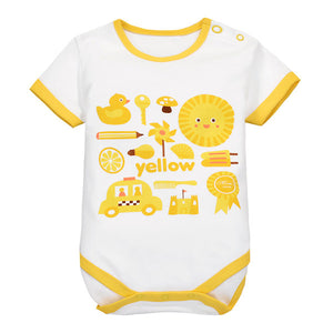 MomsCare Graphics Bodysuit (Yellow Lion) - BabyLand.my