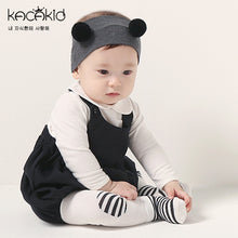 Load image into Gallery viewer, Kacakid 2-in-1 Leggings & Socks Set (Black Striped) - BabyLand.my