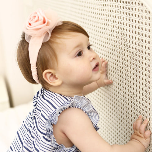 Noble Blossom Fabric Rose Headband - BabyLand.my