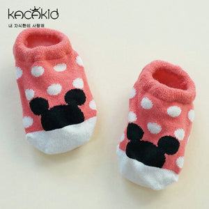 Kacakid Polka Dots Mickey Boat Socks (2 colours) - BabyLand.my