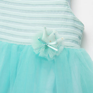 SIMYKE Princess Strappy Dress (Mint Striped) - BabyLand.my