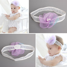 Load image into Gallery viewer, Over-sized Rosette Lace Headband - BabyLand.my