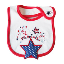 Load image into Gallery viewer, MomsCare Stars Little Fire Cracker Bib - BabyLand.my