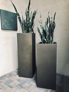Colorful Steel Column Planters - FREE SHIPPING!
