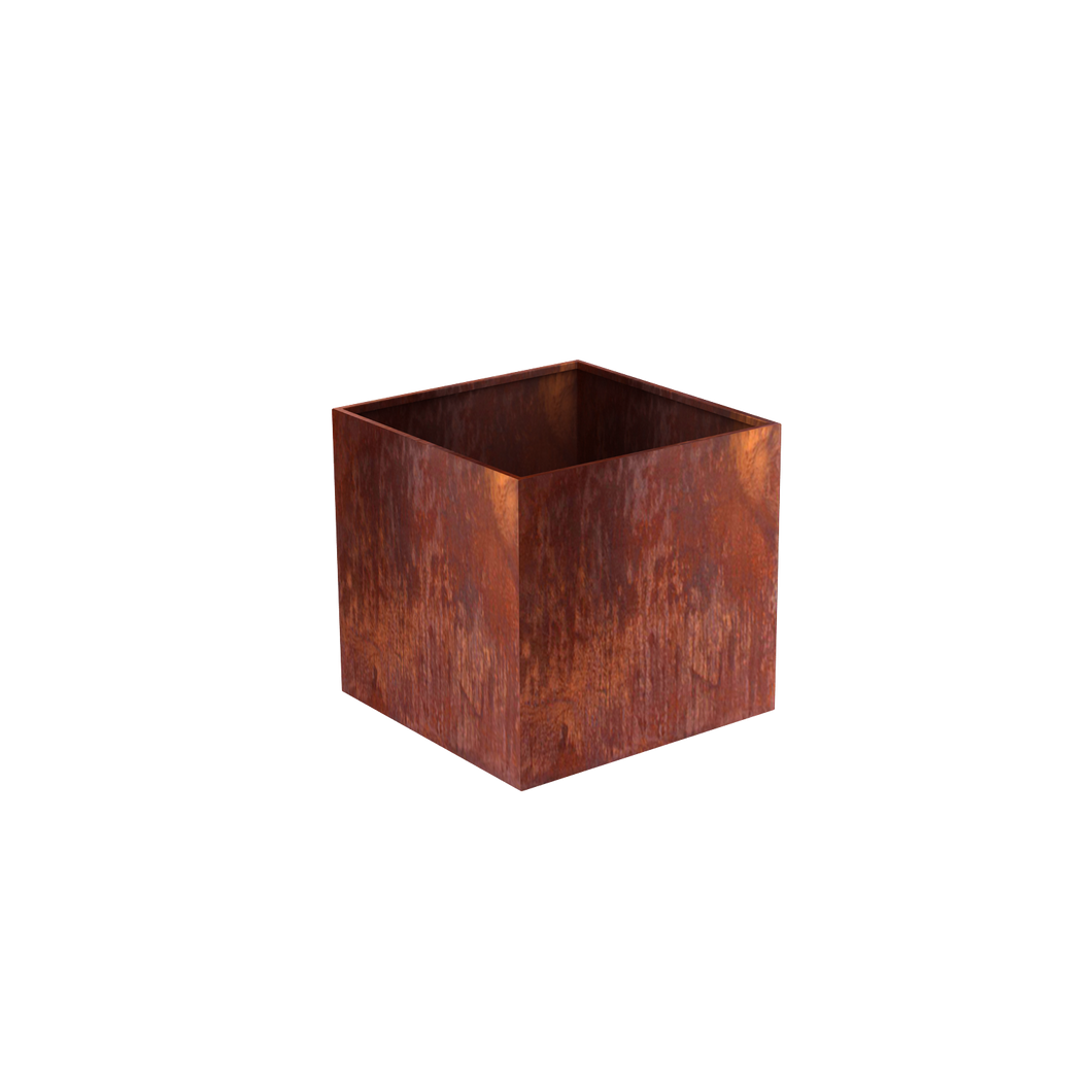 Corten Steel Cube Planters - FREE SHIPPING!