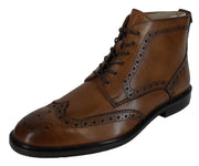 Delicious Junction Mens Chestnut Brown Garrison Brogue Boots