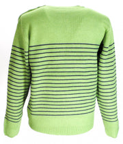 Relco Green Navy Striped Classic Retro Knit Naval Jumpers