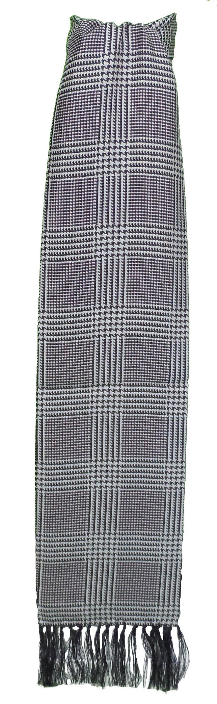 Knightsbridge Mens Prince of Wales Silk Aviator Scarf