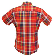 Trojan Records Ladies Red Button Down Short Sleeved Shirts