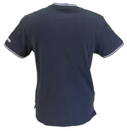 Lambretta Retro Navy Baseball Polo Shirts