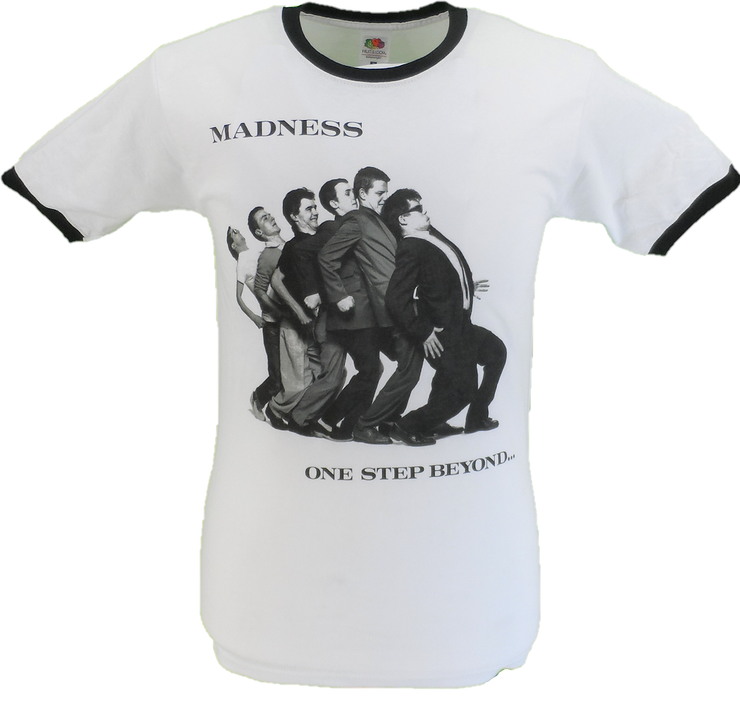 Mens White Official Madness One Step Beyond Ringer T Shirt