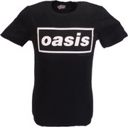 Mens Official Licensed Oasis Black Decca Logo T Shirt