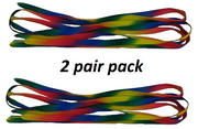 2 Pair Pack of Rainbow 110 CM Shoe Boot Laces