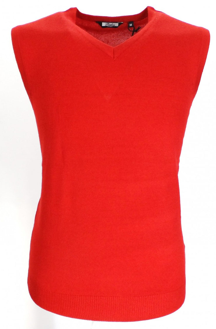 Relco Red Classic Retro Tank Tops
