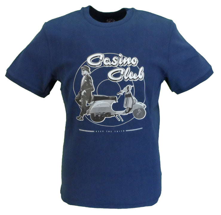 Ska & Soul Mens Navy Casino Club 100%  Cotton T Shirt