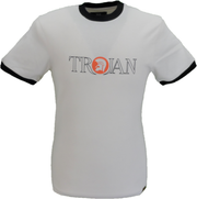 Trojan Records Ecru Classic Helmet Logo 100% Cotton T-Shirt