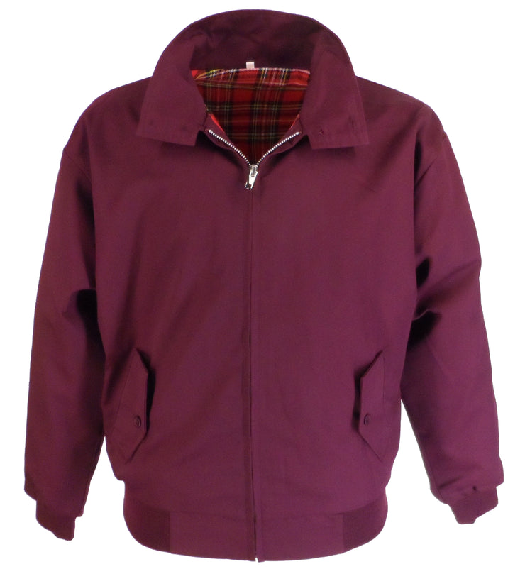 Relco Mens Deep Burgundy Harrington Jacket