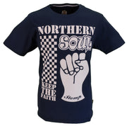 Stomp Clothing Navy Northern Soul Fist 100% Cotton T Shirt