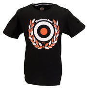 Stomp Clothing Black Northern Soul Laurel 100% Cotton T Shirt