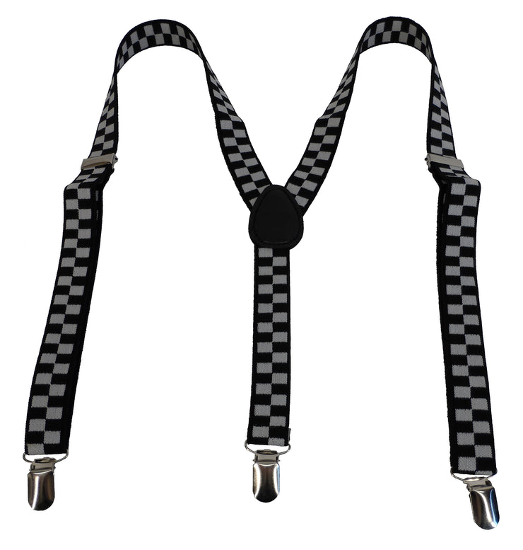 Mazeys Mens 1 Inch Checkerboard Braces