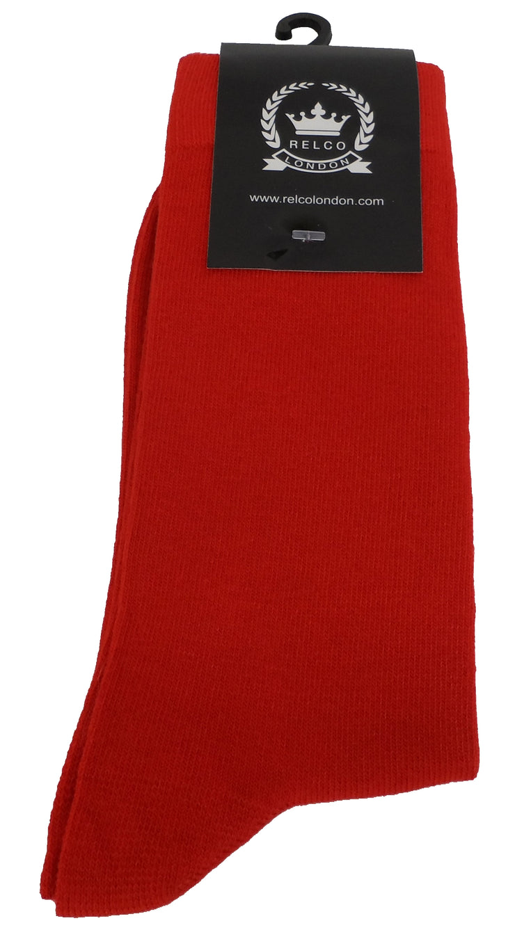 Relco Mens Red Retro Socks