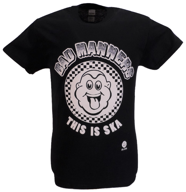 Mens Black Official Bad Manners This is Ska T Shirts