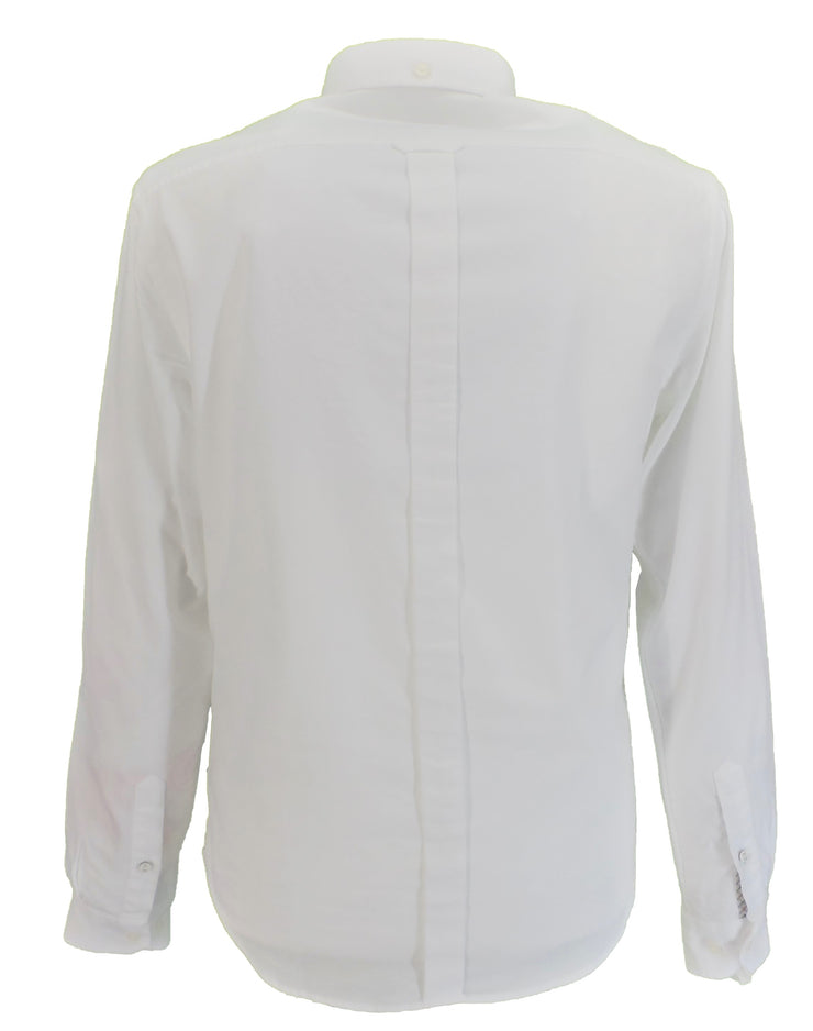 Ben Sherman White Long Sleeved Oxford Shirts