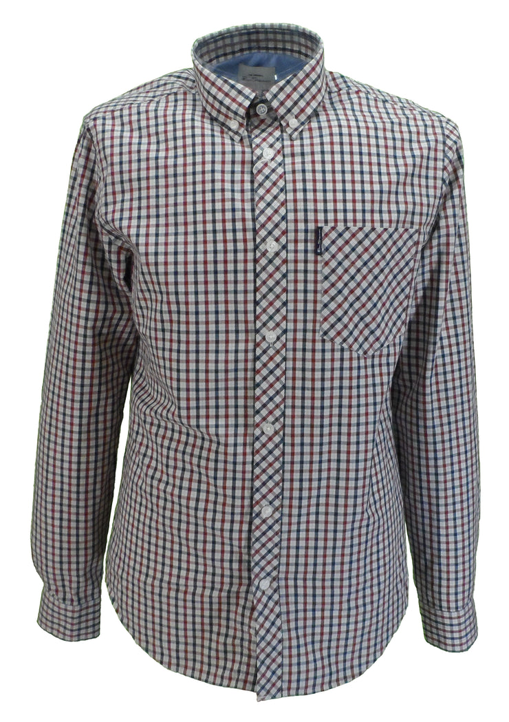 Ben Sherman Mens House Check Long Sleeved Shirts